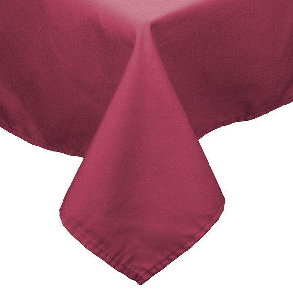 """81"""" x 81"""" Mauve 100% Polyester Hemmed Cloth Table Cover"""