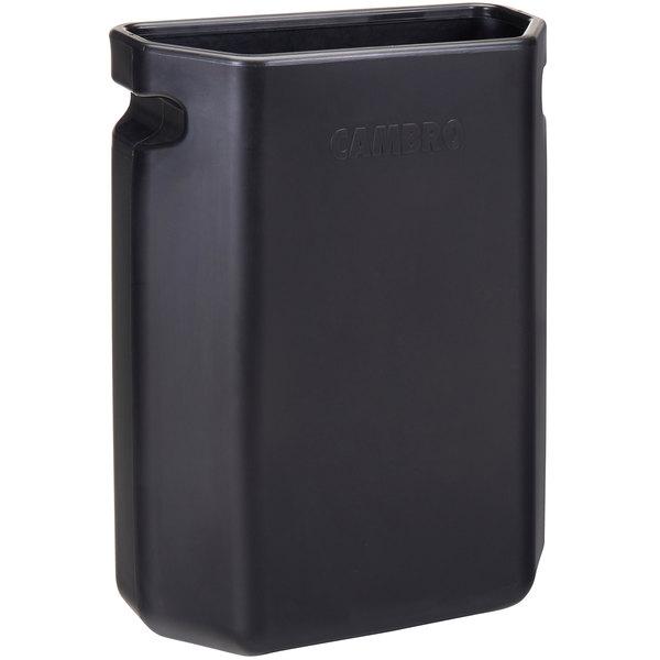 "Cambro QCTB110 Service Cart Pro 16"" x 7"" x 21"" Black Large Quick Connect Bin Main Image 1"
