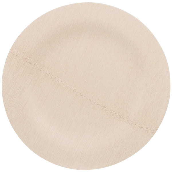 Bambu 060700 9 inch Disposable Bamboo Plate - 100/Box  sc 1 st  WebstaurantStore & Bamboo Plates | 9