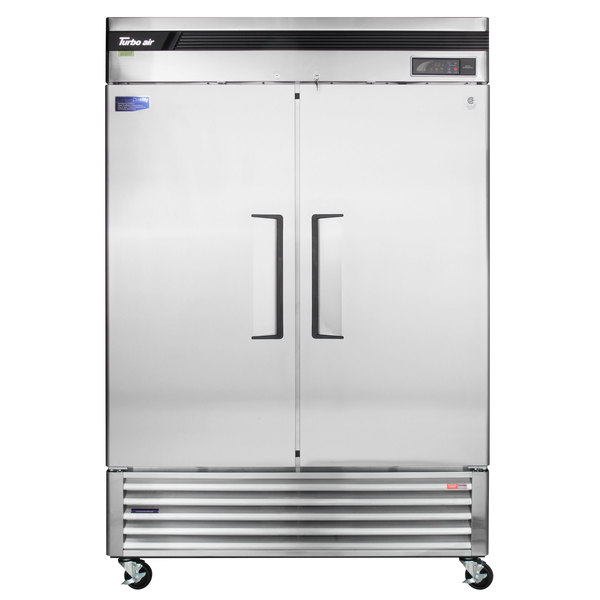 41.1 Cu Turbo Air TSR-49SD-N6 Reach In Refrigerator 2 Solid Doors Ft.