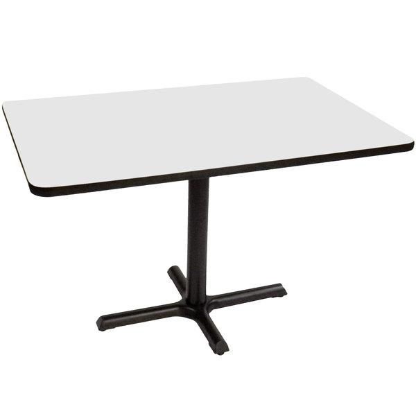 Correll Bct3048 36 30 X 48 Rectangular White Finish Standard Height High Pressure Cafe Breakroom Table
