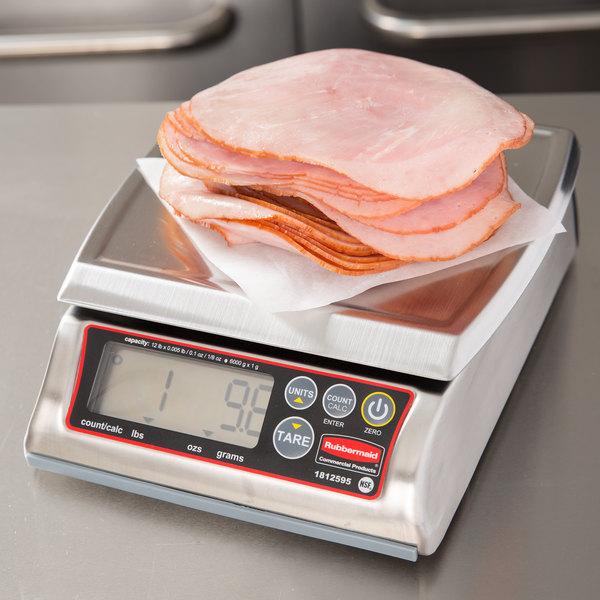 Rubbermaid 1812595 Pelouze 12 lb. Premium Stainless Steel Digital Portion Control Scale - Dishwasher Safe Main Image 12