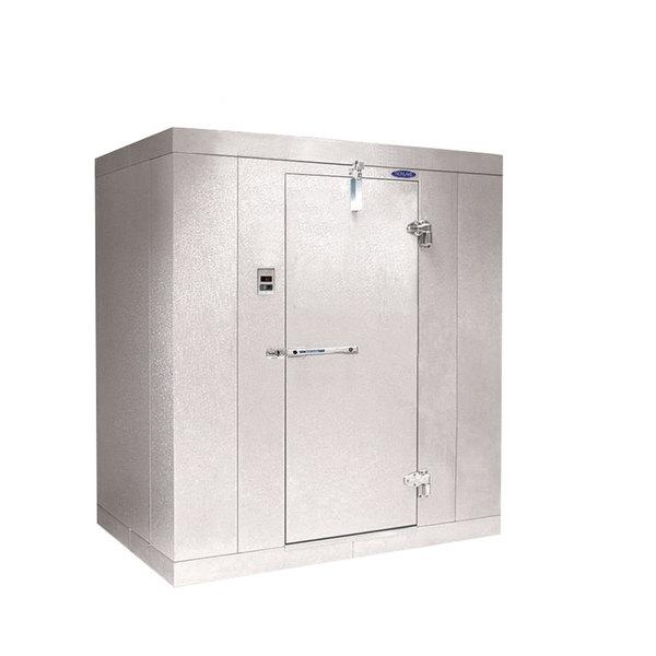 """Rt. Hinged Door Nor-Lake KL7468 Kold Locker 6' x 8' x 7' 4"""" Indoor Walk-In Cooler Box without Floor"""