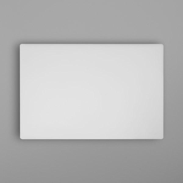 "30"" x 20"" x 1 1/8"" White Polyethylene Cutting Board Main Image 1"
