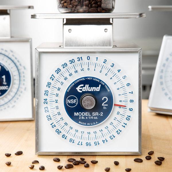 "Edlund SR-2 Premier Series 32 oz. Mechanical Portion Scale with 6"" x 6 3/4"" Platform"
