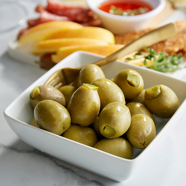 Belosa 12 oz. Dill Pickle Stuffed Queen Olives Main Image 2