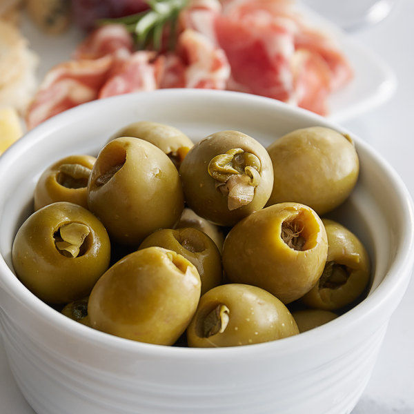 Belosa 12 oz. Caper Stuffed Queen Olives