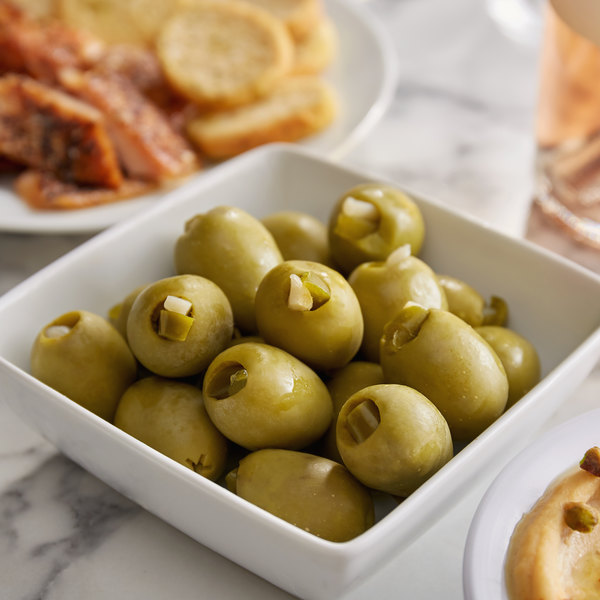 Belosa 32 oz. Jalapeno & Garlic Stuffed Queen Olives Main Image 2