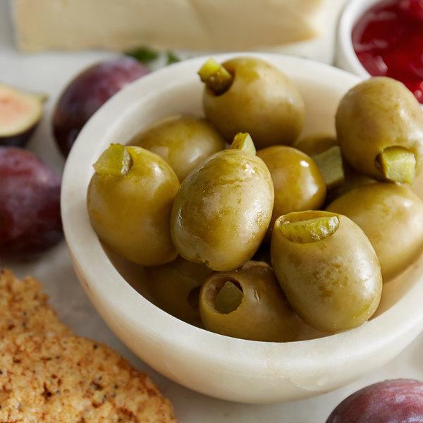 Belosa 12 oz. Sweet Pickle Stuffed Queen Olives Main Image 2