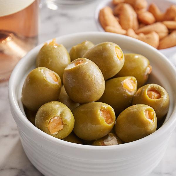 Belosa 12 oz. Bleu Cheese & Habanero Pepper Stuffed Queen Olives