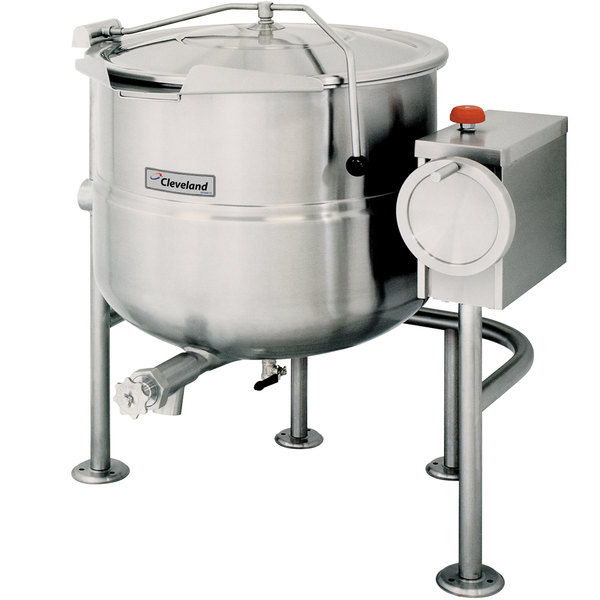 Cleveland KDL-150-T 150 Gallon Tilting 2/3 Steam Jacketed Direct Steam Kettle Main Image 1