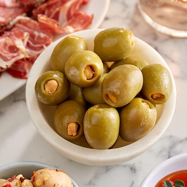 Belosa 12 oz. Cheddar Cheese Stuffed Queen Olives