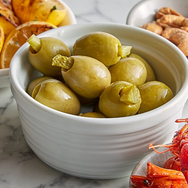 Belosa 12 oz. Cornichon Pickle Stuffed Queen Olives Main Image 2