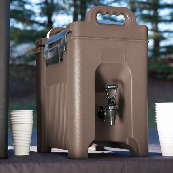 Carlisle XT250001 Cateraide 2.5 Gallon Brown Insulated Beverage Dispenser