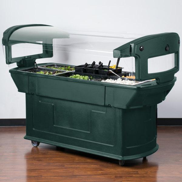 Carlisle 771108 Forest Green 6' Maximizer Portable Food / Salad Bar