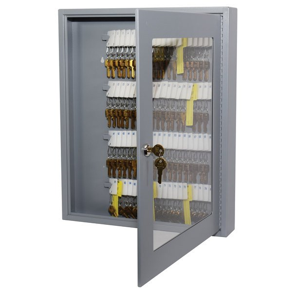 MMF Industries 2019V08001 Steelmaster Uni-Tag Vue 80-Key Cabinet with  Viewing Window