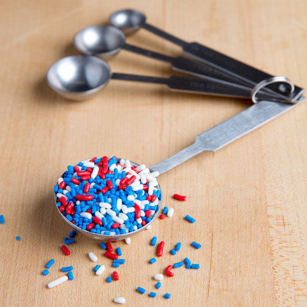 Red, White, and Blue Sprinkles Ice Cream Topping - 10 lb. Main Image 3