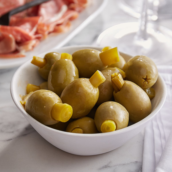 Belosa 12 oz. Asparagus Stuffed Queen Olives