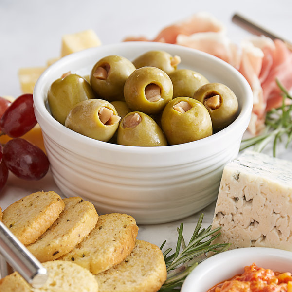 Belosa 12 oz. Mushroom Stuffed Queen Olives Main Image 2