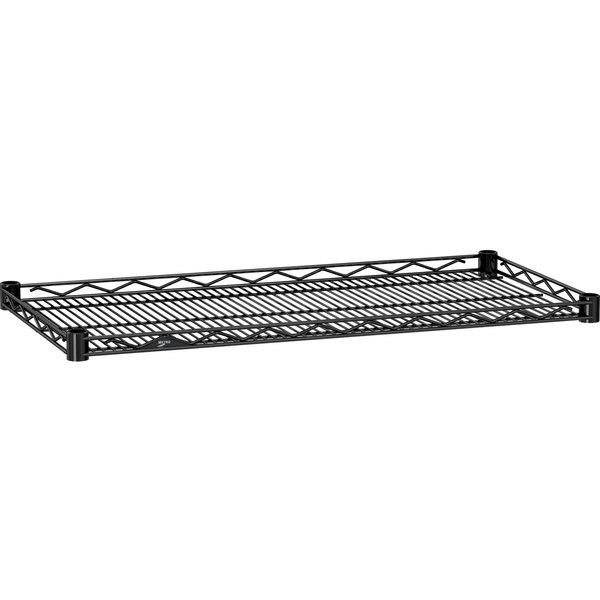 """Metro HDM1436BL Super Erecta Black Drop Mat Wire Shelf - 14"""" x 36"""""""