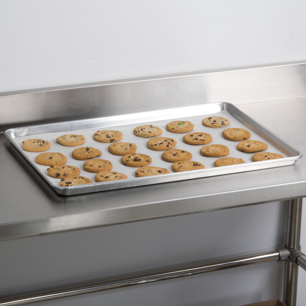 """Advance Tabco 18-8P-26 Perforated Full Size 18 Gauge Aluminum Sheet Pan - Wire in Rim, 18"""" x 26"""""""