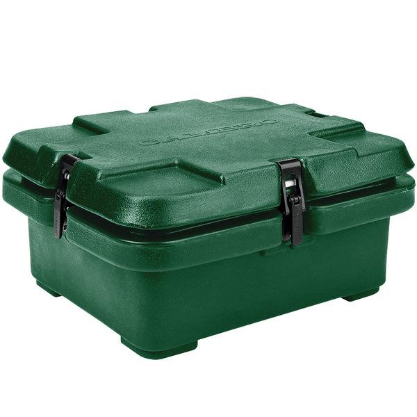 "Cambro 240MPC519 Camcarrier® Kentucky Green Top Loading 4"" Deep Insulated Food Pan Carrier Main Image 1"