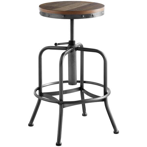 Prime Lancaster Table Seating Screw Top Adjustable Height Clear Coat Barstool With Antique Driftwood Seat Inzonedesignstudio Interior Chair Design Inzonedesignstudiocom