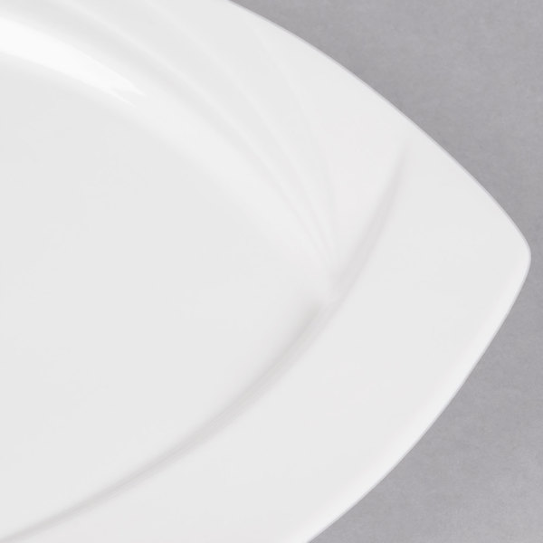 CAC China GAD-SQ6 6-1//4-Inch Garden State Porcelain Square Plate White Box of 36