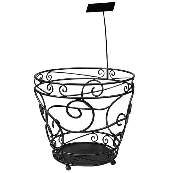 """Delfin FX-18SF Santa Fe 18"""" x 15"""" Round Basket Floor Merchandiser"""