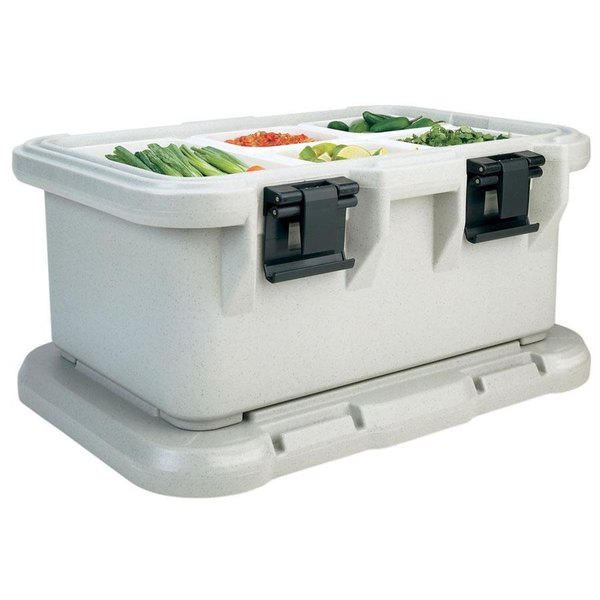 Cambro UPCS160480 Speckled Gray S-Series Ultra Food Pan Carrier Insulated Top Loading