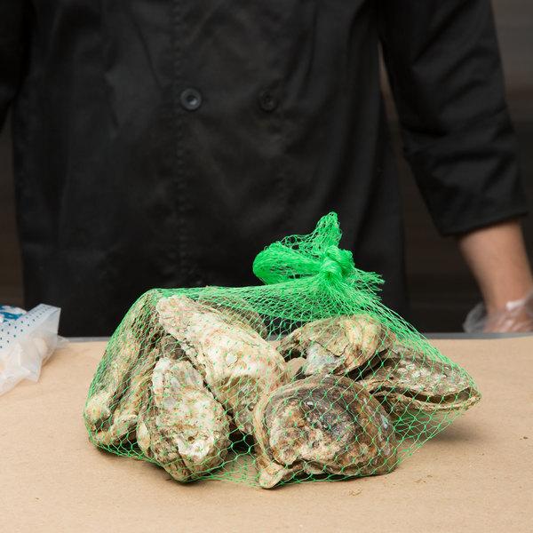 "Royal Paper RMB1000C 24"" Green Plastic Mesh Produce / Seafood Bag - 1000/Case"