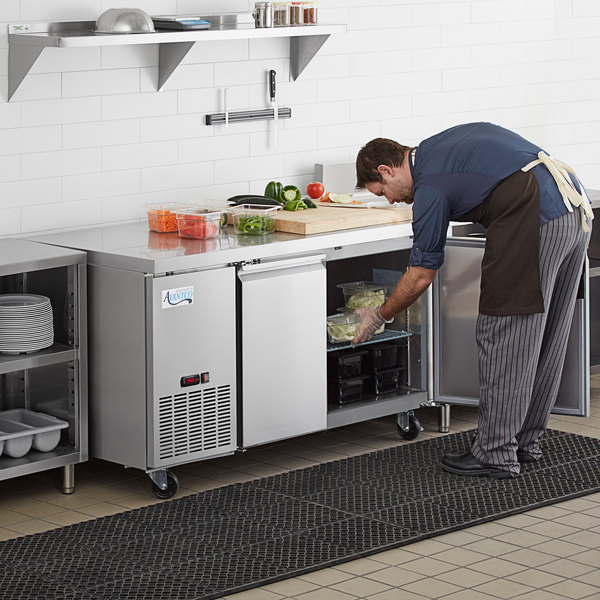 """Avantco SS-UD-2-60R 60"""" Stainless Steel Undercounter Refrigerator Main Image 7"""