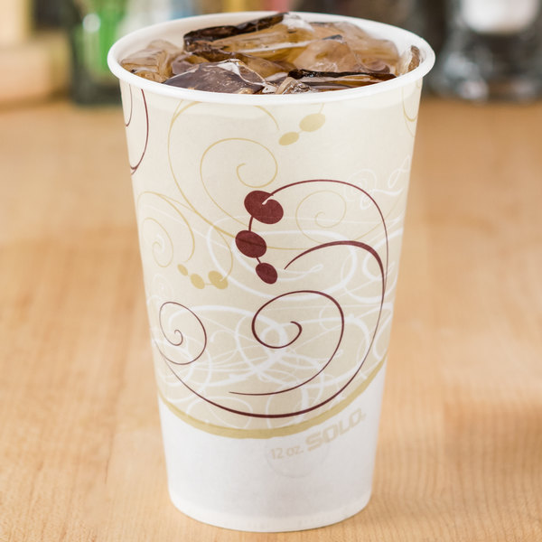 Solo R12N-J8000 Symphony 12 oz. Wax Treated Paper Cold Cup - 2000/Case Main Image 5
