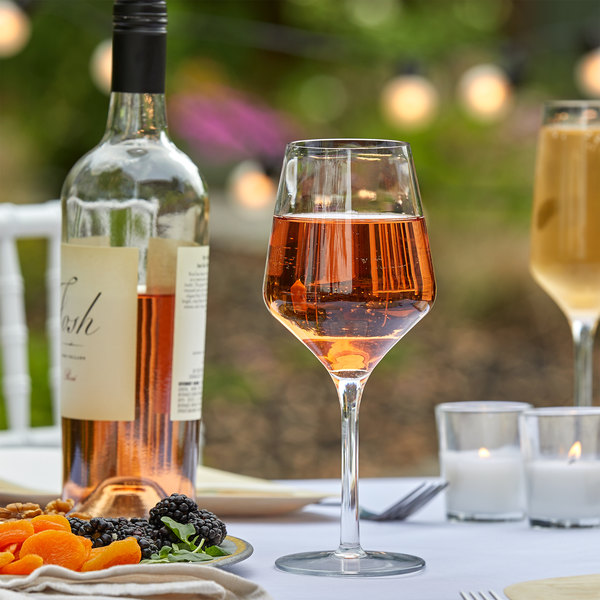 Libbey 92450 Infinium Prism 16 oz. Tritan Plastic Wine Glass - 12/Case