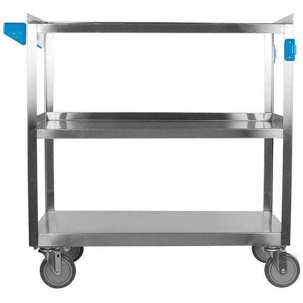 "Carlisle UC5032135 3 Shelf Stainless Steel Utility Cart - 35"" x 21"" x 32 1/2"" Main Image 1"