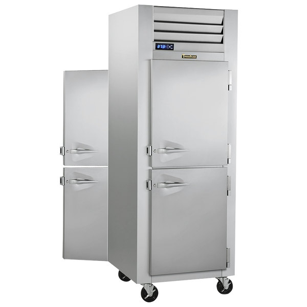Traulsen G10002P 1 Section Solid Half Door Pass-Through Refrigerator - Right / Right Hinged Doors Main Image 1
