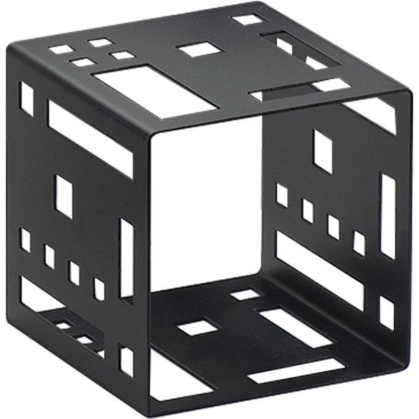 """Cal-Mil 1607-5-13 5"""" Black Steel Squared Cube Riser Main Image 1"""