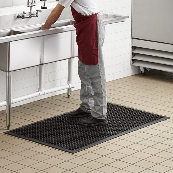Rubber Anti Fatigue Floor Mat 1 2 Thick Webstaurantstore