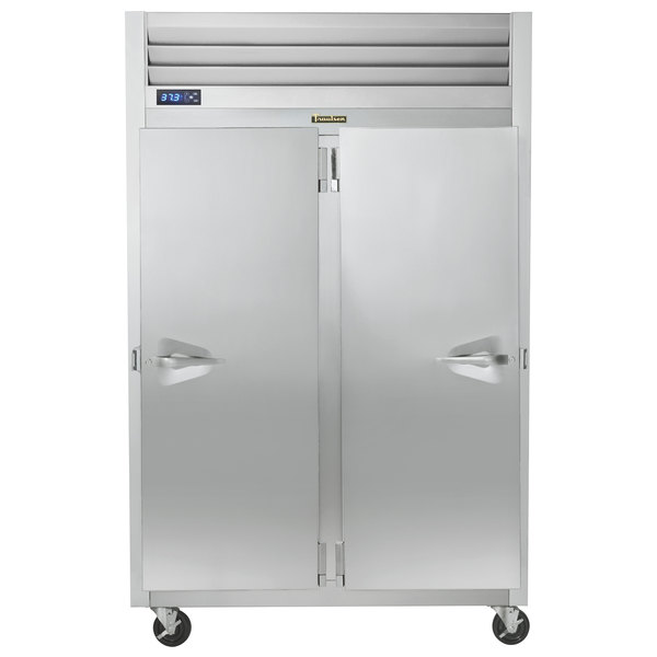 Traulsen G20016P 2 Section Solid Door Pass-Through Refrigerator - Right / Left Hinged Doors Main Image 1