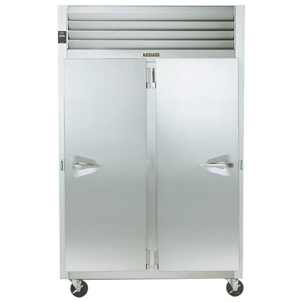 Traulsen G20016P 2 Section Solid Door Pass-Through Refrigerator - Right / Left Hinged Doors