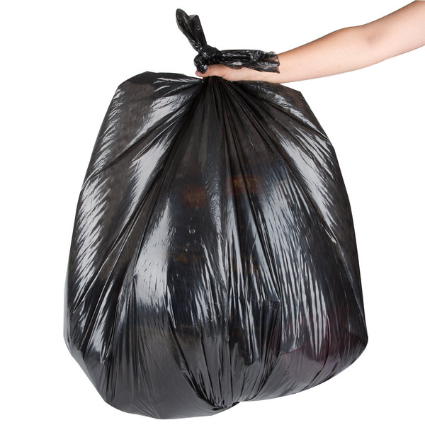 """Berry AEP 434718B 56 Gallon .71 Mil 43"""" x 47"""" Low Density Can Liner / Trash Bag - 200/Case"""