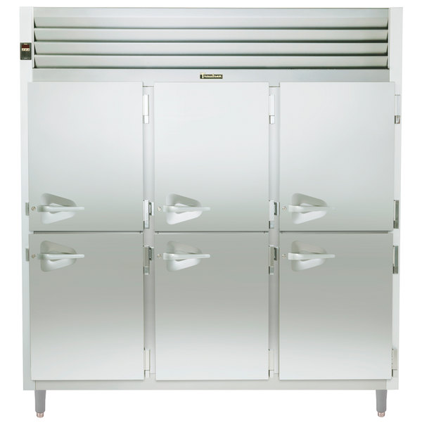 Traulsen RHT332NPUT-HHS Stainless Steel Three Section Solid Half Door Narrow Pass-Through Refrigerator - Specification Line