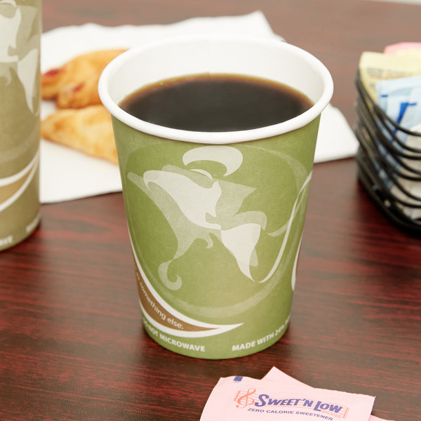 Eco Products EP-BRHC12-EW Evolution World PCF 12 oz. Paper Hot Cup - 50/Pack
