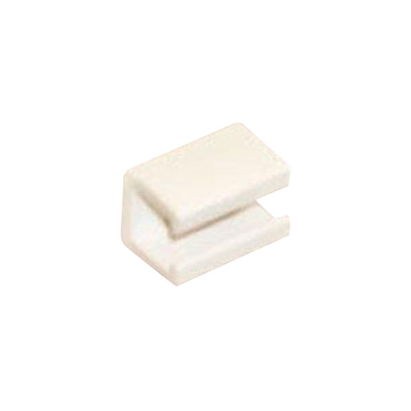 True 812083 White Plastic Shelf Clip