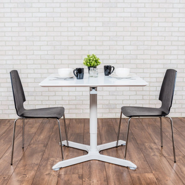 """Luxor LX-PNADJ-36SQ 36"""" Square Pneumatic Adjustable Height Cafe Table Main Image 3"""
