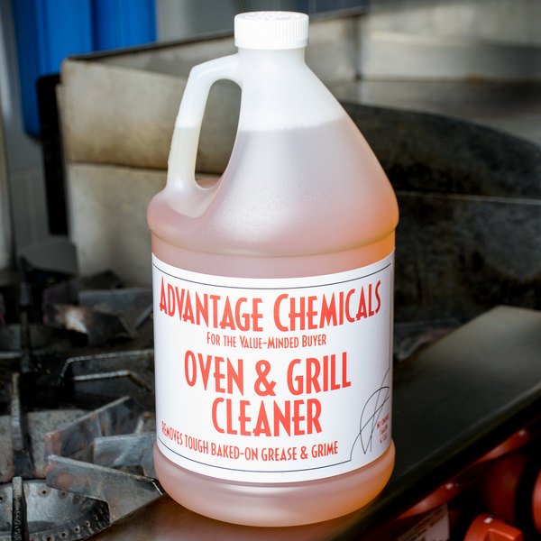 advantage chemicals 1 gallon oven and grill cleaner 4case