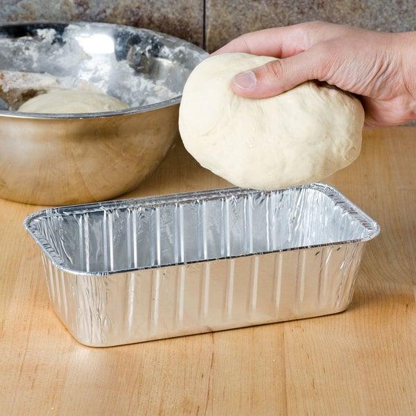 Durable Packaging 5100-35 2 lb. Foil Bread Loaf Pan - 500/Case Main Image 5
