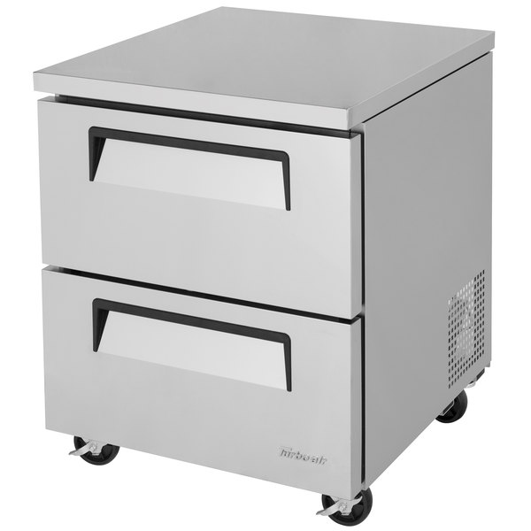 """Turbo Air TUR-28SD-D2 Super Deluxe 28"""" Undercounter Refrigerator with Two Drawers"""