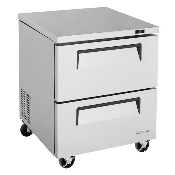 """Turbo Air TUR-28SD-D2-N Super Deluxe 28"""" Undercounter Refrigerator with Two Drawers Main Image 1"""