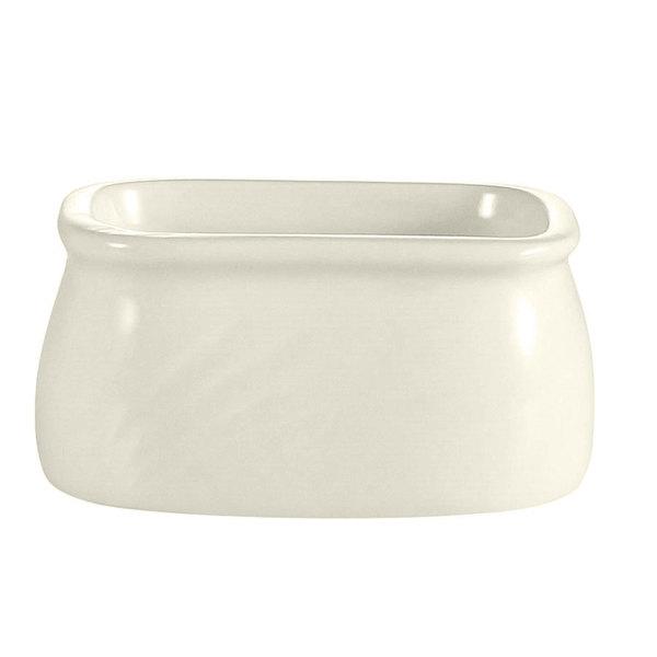 "CAC GAD-HSP Garden State 3 3/4"" Bone White Porcelain Sugar Packet Holder - 48/Case"